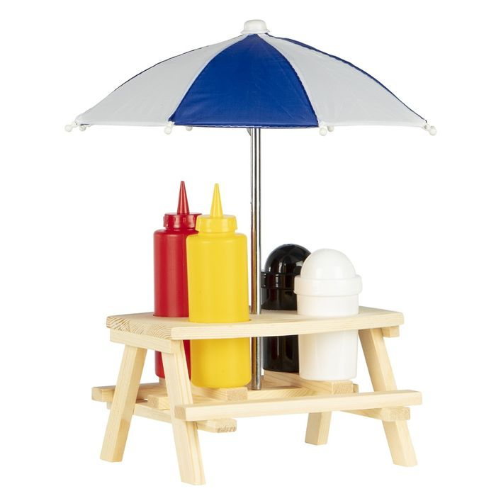 BBQ TIME! Condiment Picnic Table