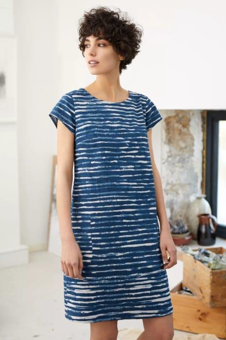 Brushed Stripe Marine River Cove Dress - save £24.95