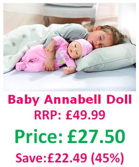 Baby Annabell Doll - Babbles, Giggles, Sleeps, Burps and Wets!