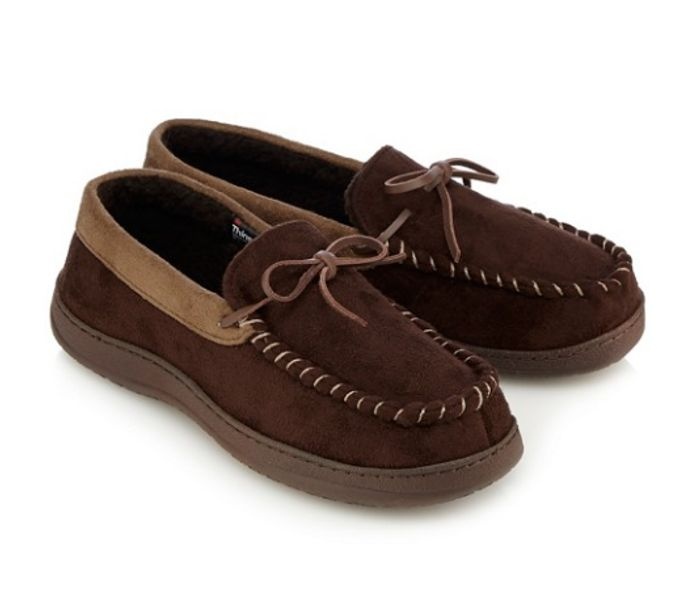 Save 73%! Maine New England Men Brown Moccasin Slippers