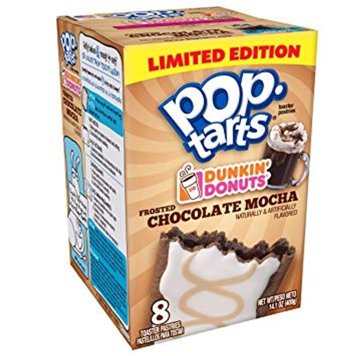 Pop Tarts Dunkin Donuts Frosted Choco Mocha Dated 2018 £1 at Cutpricebarry