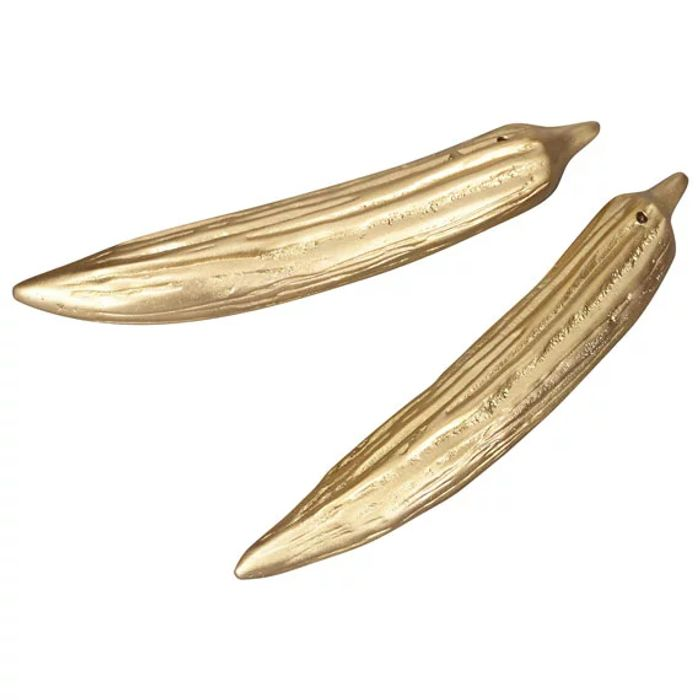 Brass Okra Salt and Pepper Shakers - save £26
