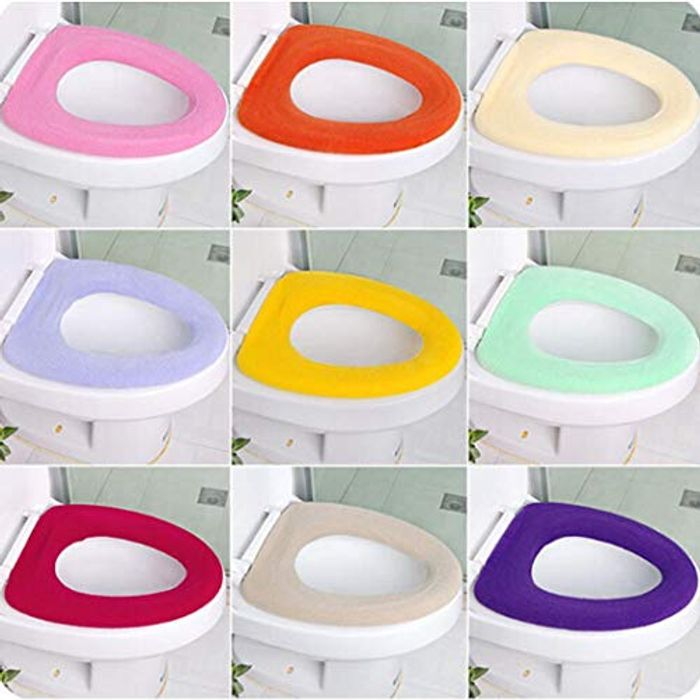 Cheap Warm Comfortable Velvet Toilet Seat Cover with Discount Code