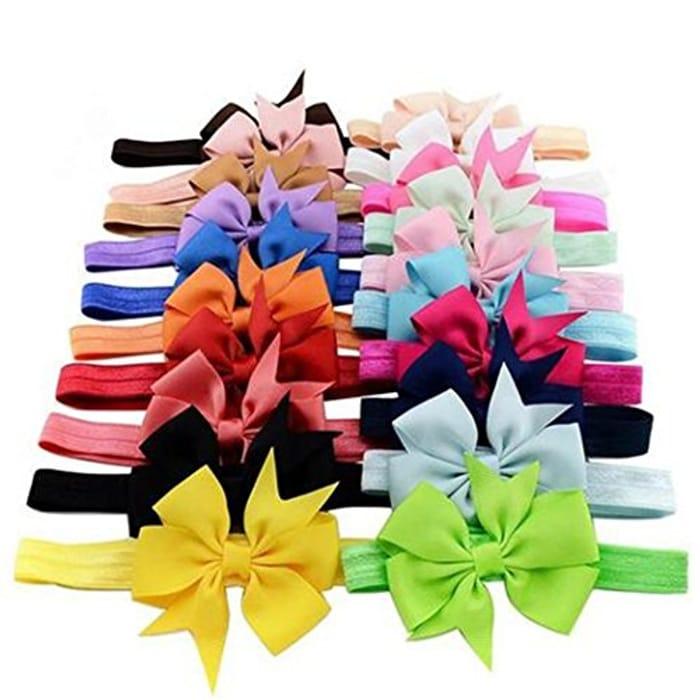 10 Pc Children Headband Swallowtail Bow Hair Band Headbands