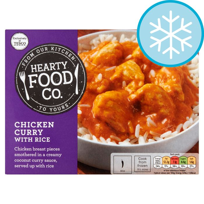 Cheap Hearty Food Co Chicken Curry With Rice 400g Only