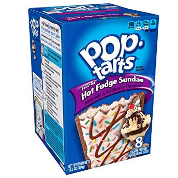 Kelloggs Frosted Hot Fudge Sundae Pop Tarts 8pk BBE 5/9/19