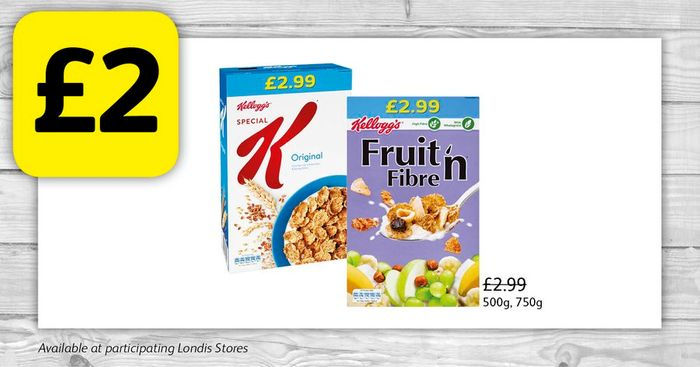 Kellogg's Cereal for Only £2