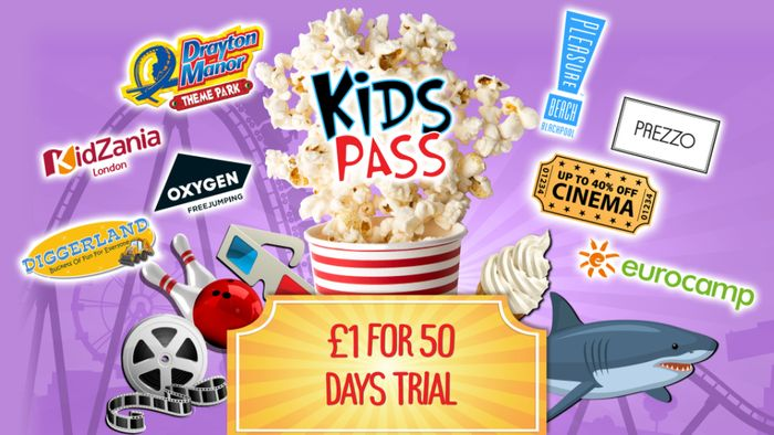 Kids Pass Membership - £1 for 50 Day Trial (LAST CHANCE)