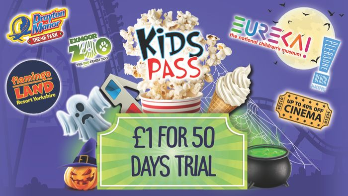 Kids Pass Membership - £1 for 50 Day Trial