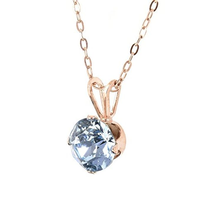 18ct Rose Gold on 925 Sterling Silver Pendant and Chain