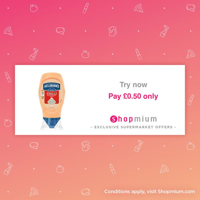 Hellmann's Chilli Mayonnaise - Only 50p!