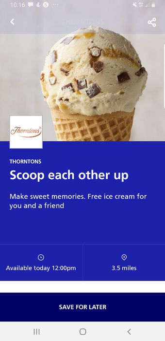 Free Ice Cream for You and a Friend (O2 Network Only)