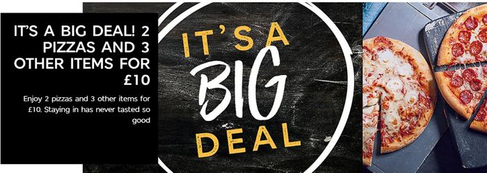 Big Deal Dine In Meal Deal 2 Pizzas 3 Sides 10 At Ms