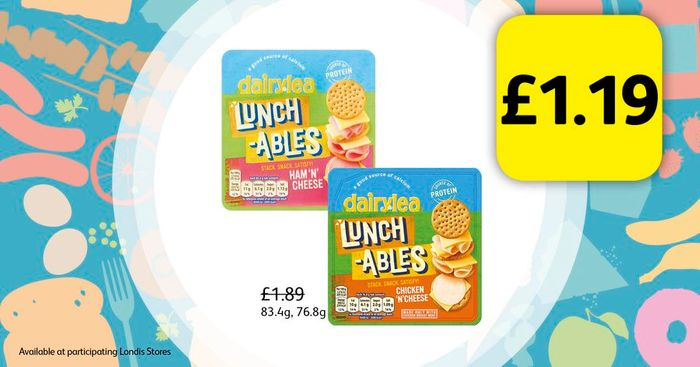 Dairylea Lunchables for Only £1.19