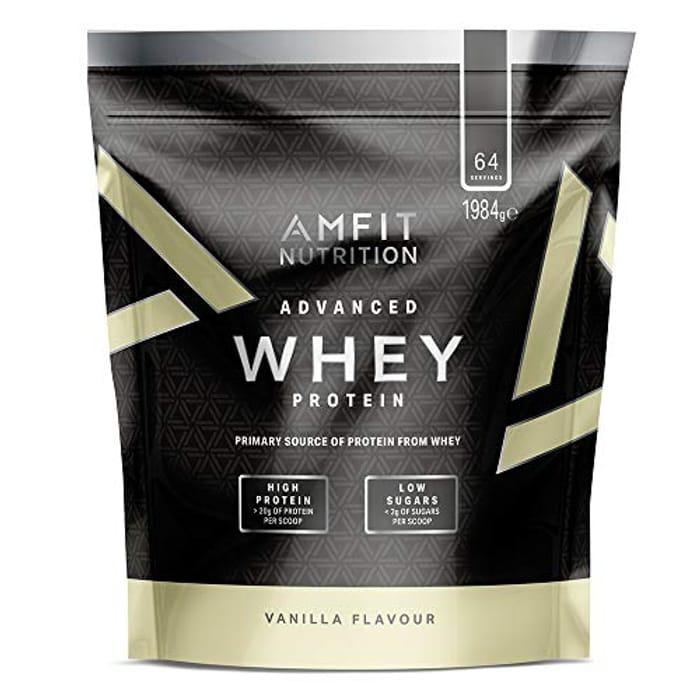 Amfit Nutrition - Advanced Whey Protein Powder Vanilla, 64 Servings