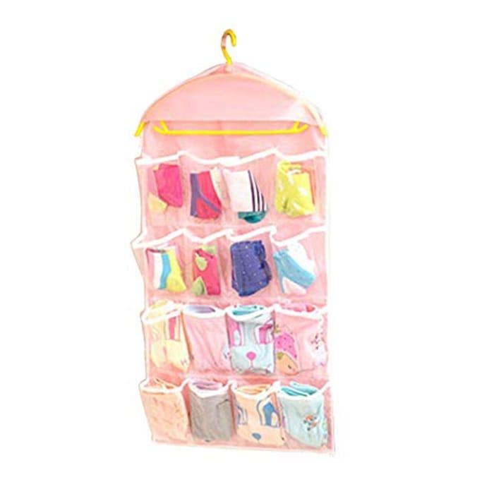 16 Grid Clothing Wall Door Storage Bag