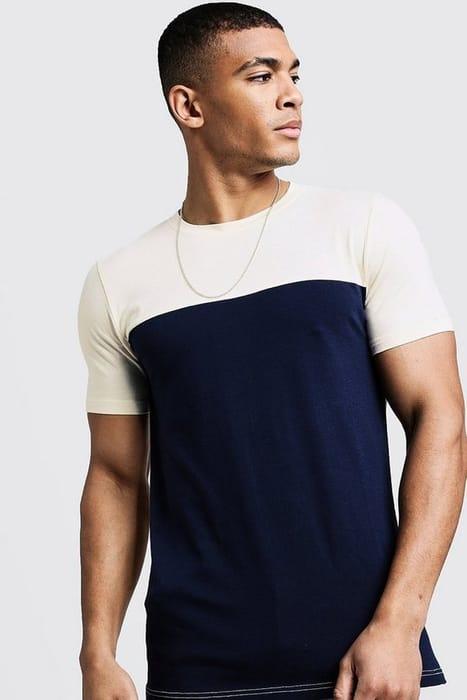 Colour Block Muscle Fit T-Shirt