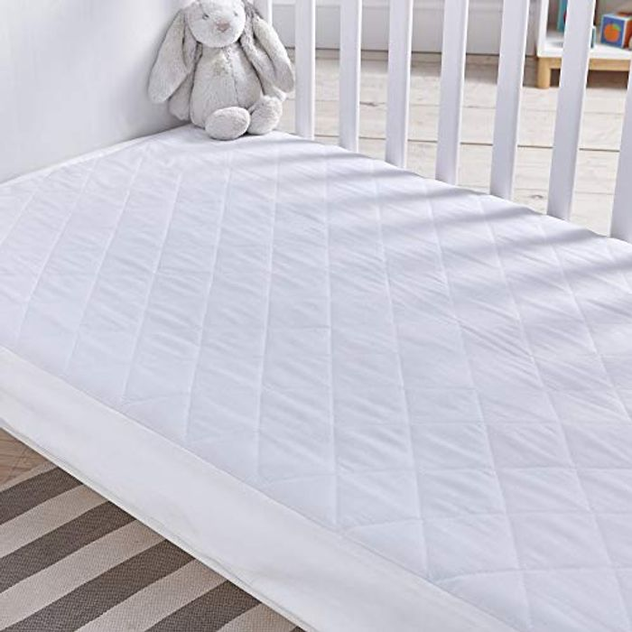 Best Price! Silentnight Safe Night Quilted Cot Bed Waterproof Mattress Protector