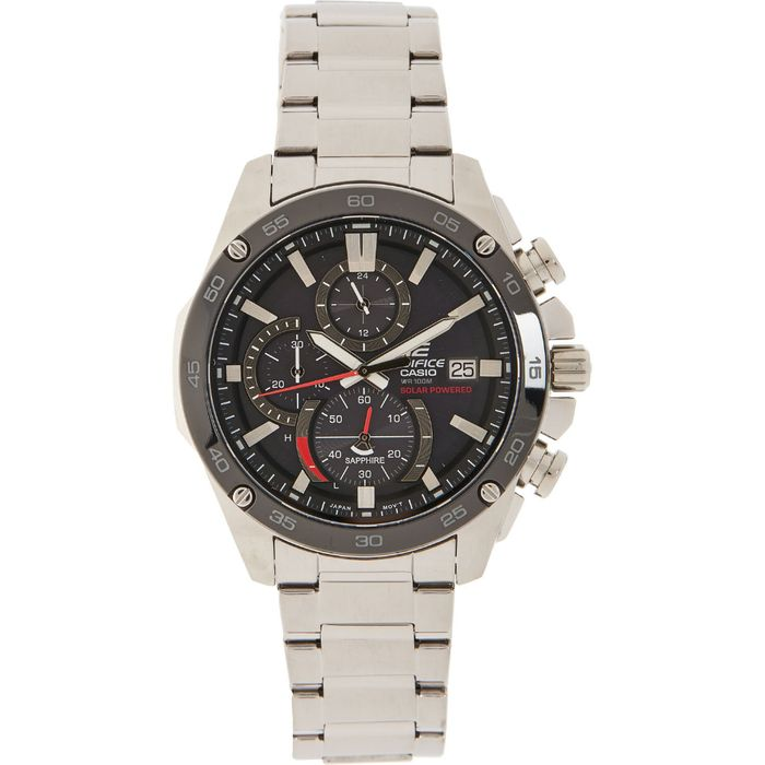 CASIO EDIFICE Silver Tone Chronograph Watch