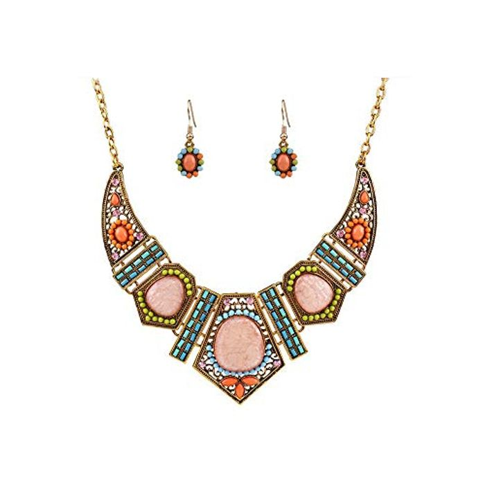 Women's Boho Style Colorful Hollow Chain