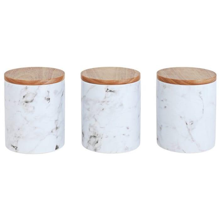 Argos Home Set Of 3 Marble Storage Jars 8060891 1250