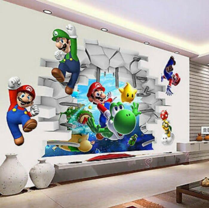 3D Super Mario Bros Wall Decal