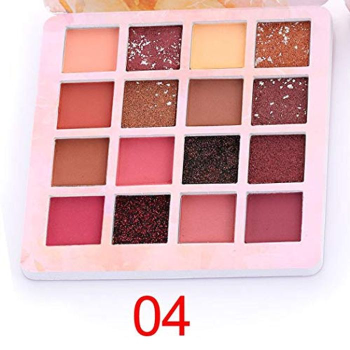 Eyeshadow Palette Makeup - Matte + Shimmer 16 Colours