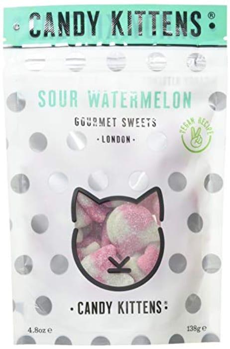 Candy Kittens Vegan Gourmet Sweets - Sour Watermelon, 138g (Single)