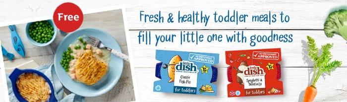 Free Little Dish Spaghetti & Meatballs or Little Dish Fish Pie