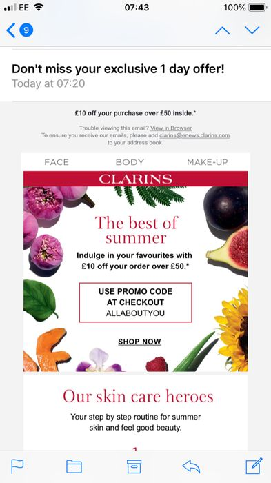 £10 off a £50 Spend