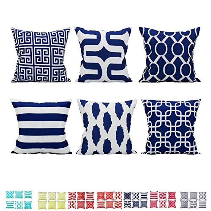 Save 50% off Comoco Set of 6 Coordinated Geometric Digital Printing Decorative