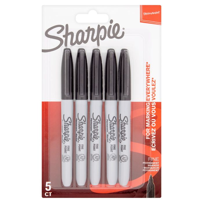 Sharpie Permanent Markers Black 5 Pack Only £3