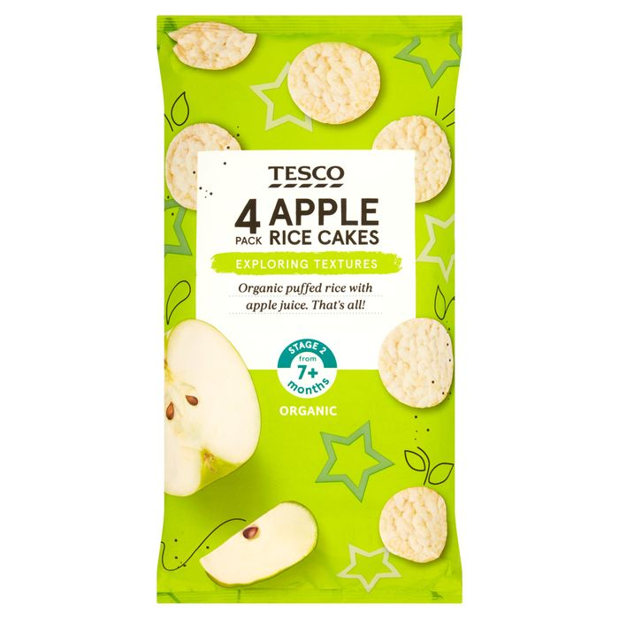 3 for 2 Tesco Apple Rice Cakes 4 X 20G Only £1.8