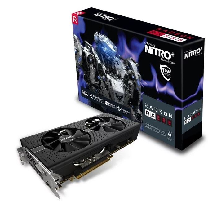 Sapphire Radeon RX 580 NITRO+ 8GB Graphics Card, £172.50 at CCL (Free Game Pass)