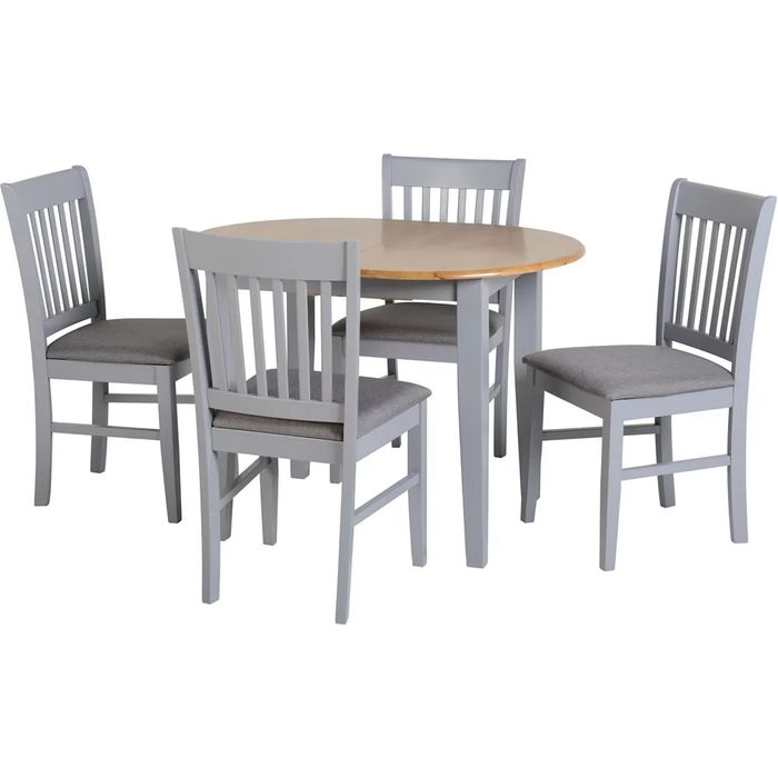 Oxford Grey Extending Dining Set with 4 Chairs