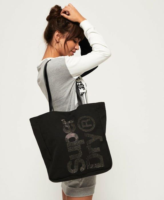 Womens Superdry Black Shopper Bag £10 Delivered