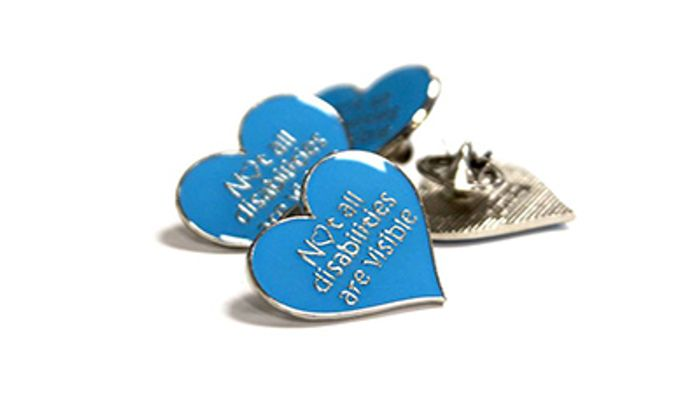 Free Blue Heart Invisible Disabilities Badge