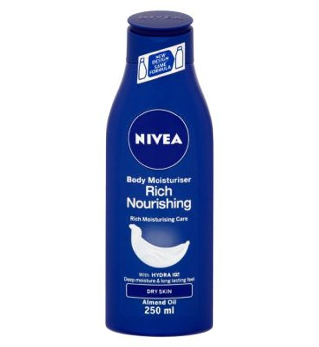 NIVEA Body Lotion for Very Dry Skin, Rich Nourishing, 250ml save 74p