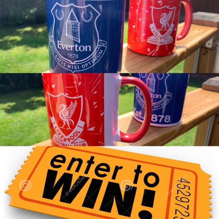 Win Liverpool or Everton Football Mugs
