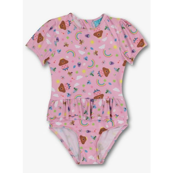 Hey Duggee Pink Frill Swimsuit