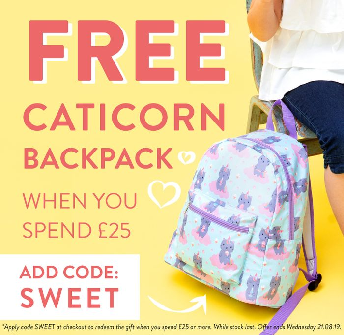Free Backpack When You Spend over £25