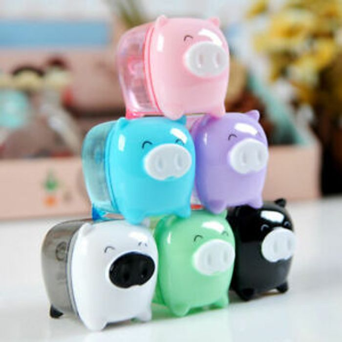 New Funny Cute Pig Pencil Sharpener