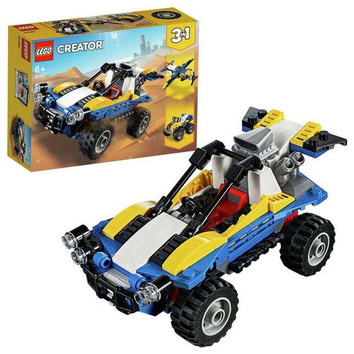 LEGO Creator 3-in-1 Dune Buggy Plane Bike & Car Toys - 31087
