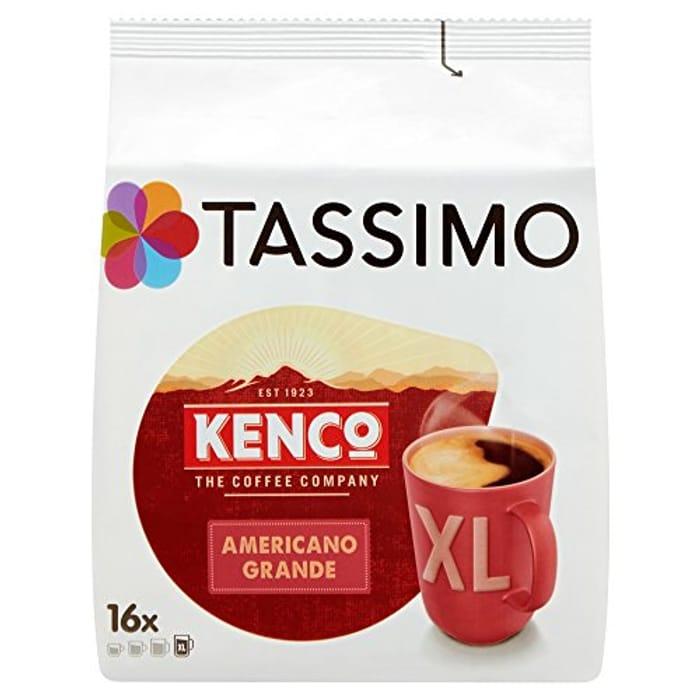 SAVE £4.95 Tassimo Kenco Americano Grande Coffee Pods (5 X 16 = 80 Pods)