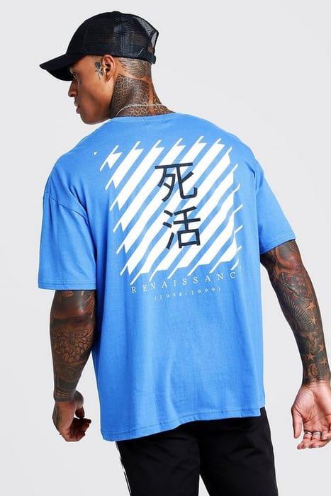 Oversized Back Print T-Shirt
