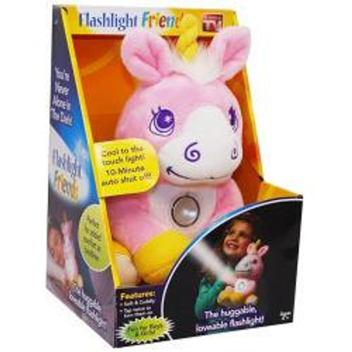Flashlight Friends Unicorn Light Plushie