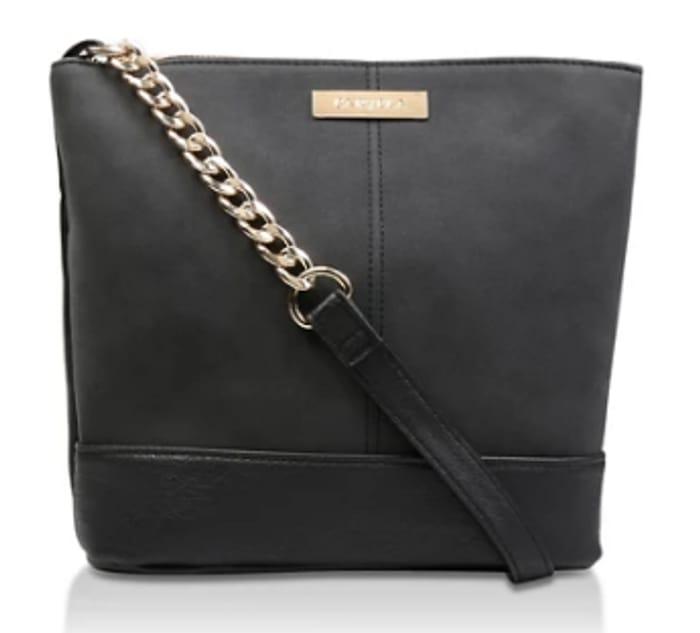Carvela Black 'Rich Zip Top Chn Bckt Bag' Shoulder Bag