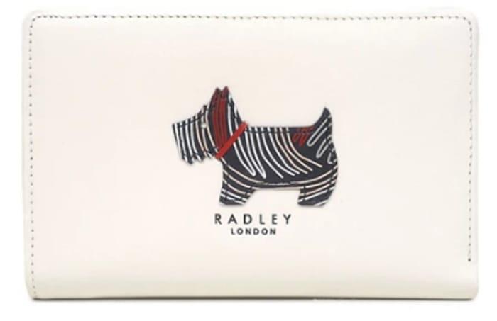 Radley White Leather 'Fenchurch Dog' Medium Zip-Top Purse