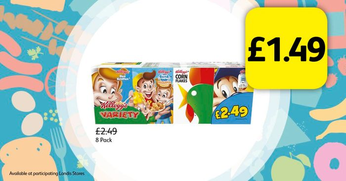 Kellogg's Variety Pack for Only £1.49