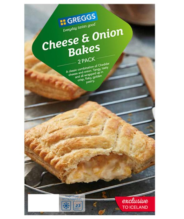 Greggs Cheese & Onion Bakes / Sausage & Bean Melts 2 for £2